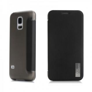 Original ROCK Smartcover Schwarz für Samsung Galaxy S5 Mini G800 F A H Case Neu