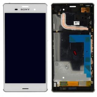Original Sony Display LCD Komplett Einheit mit Rahmen für Xperia Z3 D6603 Ersatz - Vorschau 1