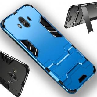 Für Huawei P Smart Plus Metal Style Outdoor Hellblau Tasche Hülle Cover Schutz