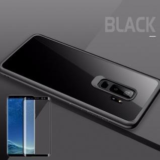 Für Samsung Galaxy S9 Plus Original ROCK Silikon Tasche Hülle Schwarz + 4D Glas