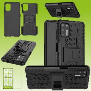Für Motorola Moto G9 Plus Handy Tasche Cover Hülle Etuis Schwarz Case + H9 Glas