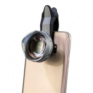 Universal Premium Teleobjektiv Telescope Lens Clip On für IOS Android Silber TOP