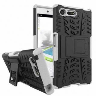 Hybrid Case 2teilig Outdoor Weiß Tasche Hülle für Sony Xperia X Compact F5321