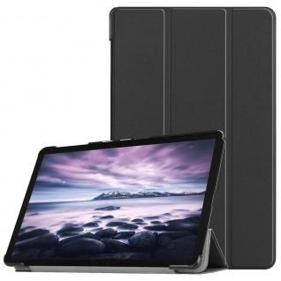 Premium Smartcover Schwarz Tasche Etuis Hülle für Samsung Galaxy Tab S5e T720F