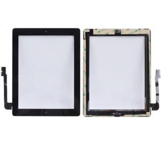 Touchscreen Digitizer Glas Display Schwarz Apple iPad 4 Home Button Werkzeug