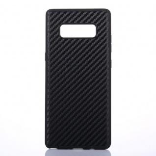 Hybridcase Carbon Schwarz Hülle für Samsung Galaxy Note 8 N950 N950F Tasche Neu - Vorschau 3