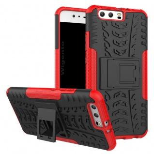 New Hybrid Case 2teilig Outdoor Rot für Huawei P10 Tasche Hülle Cover Schutz Neu