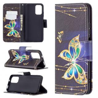 Für Xiaomi Redmi Note 10 4G / 10s Kunst-Leder Handy Tasche Motiv 4 Hülle Etuis