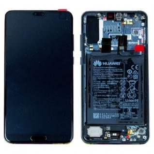 Huawei Display LCD Rahmen für P20 Pro Service Pack 02351WTP Blau Batterie Neu