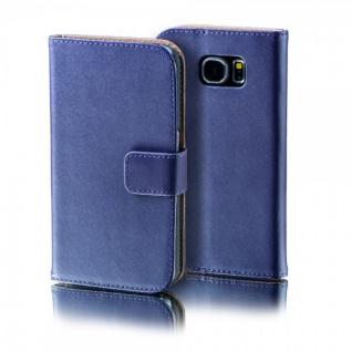 Schutzhülle Lila für Huawei Y6 Bookcover Tasche Hülle Wallet Case Flip Etui Neu