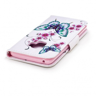 Tasche Wallet Book Muster Motiv 27 für Smartphones Schutz Hülle Case Cover Etui - Vorschau 5