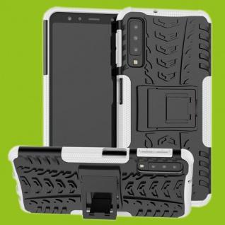 Für Samsung Galaxy A7 A750F Hybrid Case 2teilig Outdoor Weiß Tasche Hülle Cover