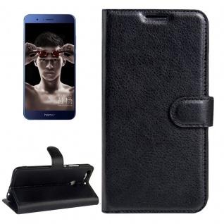 Schutzhülle Schwarz für Huawei Honor V9 / V8 Pro Bookcover Tasche Case Etui Neu