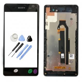 Sony Display LCD Komplett mit Rahmen für Xperia E5 F3311 Schwarz Ersatz Glas Neu - Vorschau 1