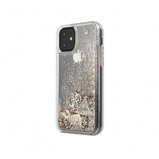 Guess Hard Cover Schutzhülle für Apple iPhone 11 Gold Glitzer Herz Tasche Case