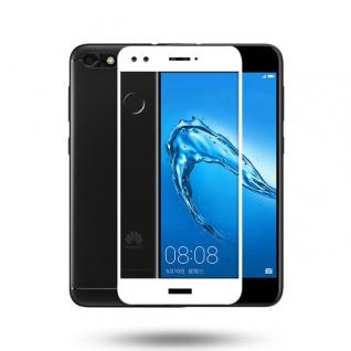 Premium 0, 3 mm gebogenes H9 Hartglas Weiß Folie für Huawei Y6 Pro 2017 Schutz