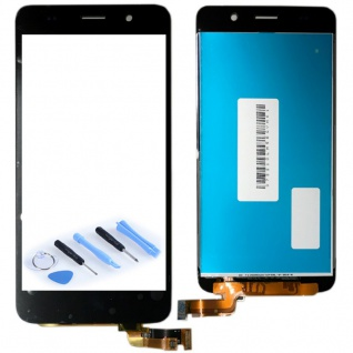Ersatz Display LCD Komplett Einheit für Huawei Y6 Reparatur Schwarz Ersatzteil