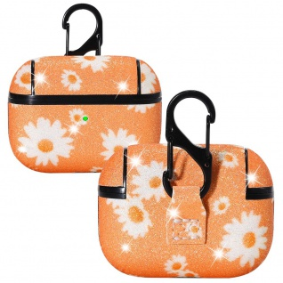 Apple Airpods Pro Cover Ring Orange Schutzhülle Cover Tasche Case Etui Halter