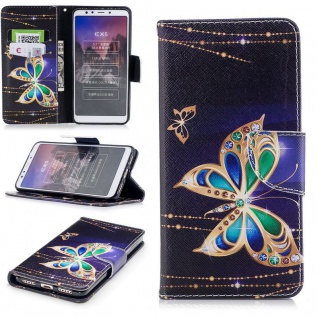 Für Huawei P Smart Plus Kunstleder Tasche Wallet Motiv 32 Schutz Hülle Case Neu