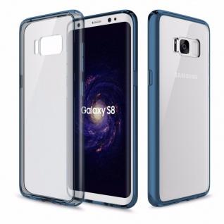 Original ROCK Silikon Tasche Transparent / Blau für Samsung Galaxy S8 Plus G955F