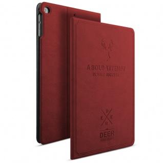 Design Tasche Backcase Smartcover Weinrot für Apple iPad Mini 4 7.9 Hülle Case