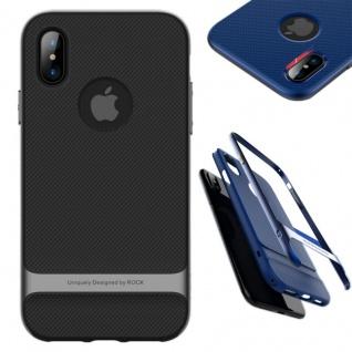 Original ROCK Silikon Case Tasche Schwarz / Grau für Apple iPhone X / 10 Hülle