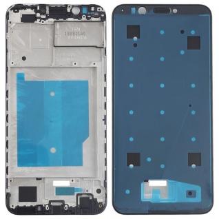 Gehäuse Rahmen Mittelrahmen Deckel für Huawei Y7 2018 Schwarz Reparatur Ersatz