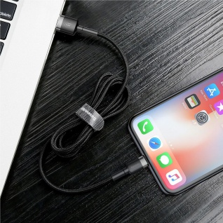 Baseus Ladekabel für Apple iPhone iPad iPod Schwarz USB Sync Cable 8Pin Kabel - Vorschau 3