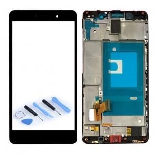 Ersatz Full Display LCD mit Rahmen Komplett für Huawei Honor 7 Schwarz Reparatur