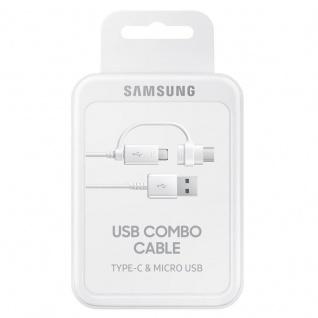 Samsung Combo Kabel EP-DG930 Datenkabel Micro-USB USB A USB Typ C Adapter Weiss