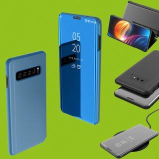 Für Samsung Galaxy S10 Lite / S10E G970F 5.8 Clear View Smart Cover Blau Tasche