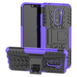 Für Xiaomi POCO Pocofone F1 Hybrid Case 2teilig Outdoor Lila Tasche Hülle Cover