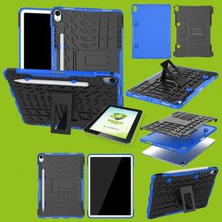 Für Apple iPad Pro 11.0 Zoll 2018 Hybrid Outdoor Blau Tasche + 0.4 H9 Hart Glas