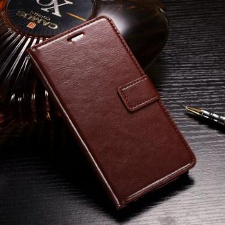 Tasche Wallet Premium Braun für Huawei Honor 9 Lite Hülle Case Cover Schutz Etui