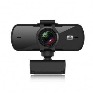 2K HD USB Universal Webcam mit Mikrofon Cam Schwarz Kamera Laptop PC Zubehör