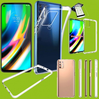 Für Motorola Moto G9 Plus Silikon TPU + H9 Glas Handy Tasche Hülle Etuis Case