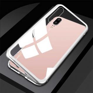 Für Xiaomi Mi 9 Magnet Glas Silber / Transparent Tasche Hülle Etuis Cover Case
