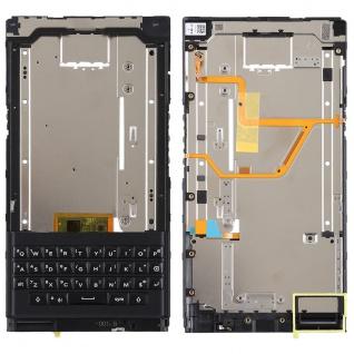 Gehäuse Rahmen Mittelrahmen Deckel für BlackBerry Priv Schwarz Keyboard Tastatur