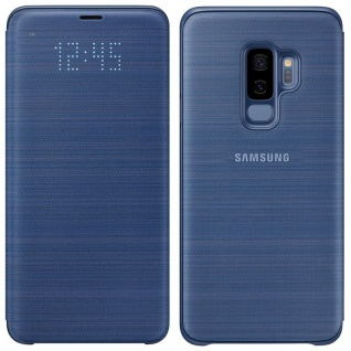 Samsung LED View Cover Tasche EF-NG965PLE für Galaxy S9 Plus Hülle Blau Case Neu
