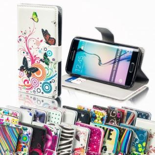 Bookcover Wallet Muster für Smartphones Tasche Hülle Case Etui Cover Schutz Top - Vorschau 2
