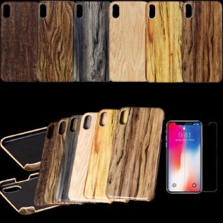 Hochwertige Design Hülle Holz / Wald Style für Smartphones Hülle Case Etui Neu