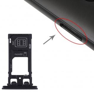 Für Sony Xperia XZ2 Compact SIM + SIM Karten Halter + Micro SD Card Tray Schwarz