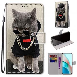 Für Xiaomi Redmi Note 9T / Note 9 5G Kunst-Leder Handy Tasche Motiv 2 Hülle Etui