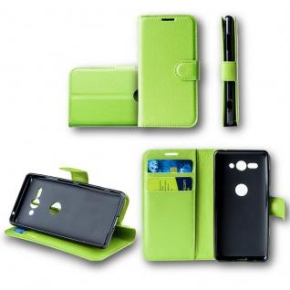 Für Huawei Y6 2018 Tasche Wallet Premium Grün Hülle Case Cover Schutz Etui Neu