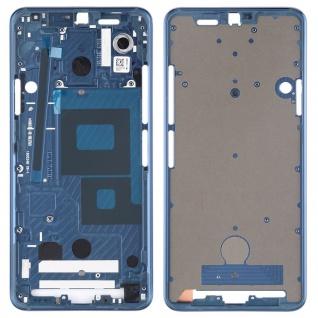 Gehäuse Rahmen Mittelrahmen Front Housing kompatibel für LG G7 ThinQ Blau Neu