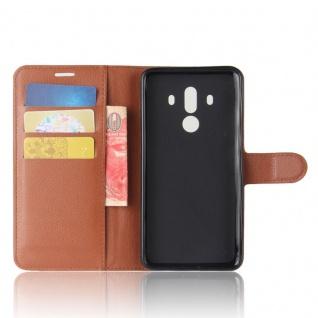 Tasche Wallet Premium Braun für Huawei Mate 10 Pro Hülle Case Cover Etui Schutz - Vorschau 5