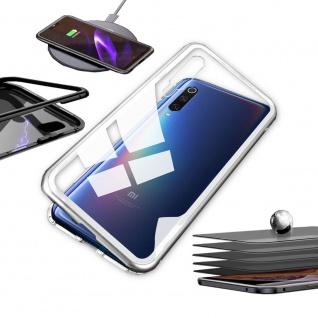 Für Xiaomi Mi 9 Lite Magnet Metall Glas Transparent / Silber Tasche Hülle Etuis