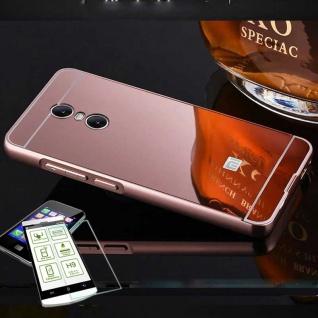 Alu Bumper 2 teilig Pink + 0, 3 H9 Glas für Sony Xperia XA2 Tasche Hülle Case