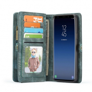 Handytasche für Samsung Galaxy S9 Plus G965F CaseMe Hülle Geldbeutel + Etui Blau