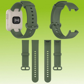 Für Xiaomi Mi Watch Lite / Redmi Watch Kunststoff / Silikon Armband Dunkel Grün